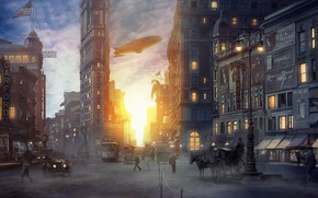 Picture crossroads, Inspired by Fantastic Beasts movie, New York Scenes