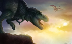 Picture predator, T-Rex, the world of dinosaurs