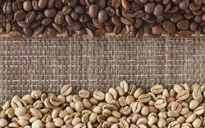 Picture coffee, grain, texture, bag