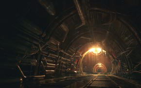 Picture the tunnel, maintance tunnels, Concept art for the Iron Tower Studio
