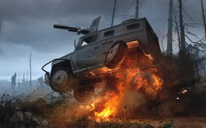 Picture the explosion, fire, car, gun, game concepts