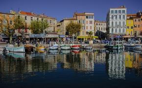 Picture sea, reflection, boat, France, home, port, Provence-Alpes-Cote D'azur, La Ciotat