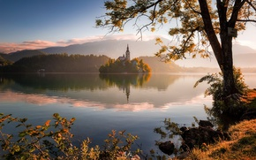 Picture morning, Lake Bled, Slovenia