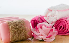 Picture flowers, roses, towel, soap, Spa