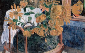 Picture picture, Sunflowers, Paul Gauguin