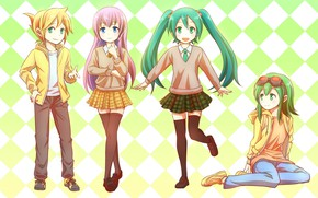 Picture anime, art, Vocaloid, Vocaloid, characters, bright background