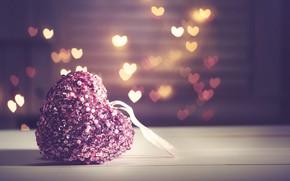 Picture love, heart, hearts, love, heart, pink, romantic, bokeh