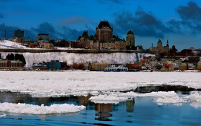 Picture winter, the city, Quebec