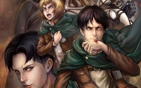Picture anime, art, Mikasa, Shingeki no Kyojin, Eren Yeager, Attack of the titans, The invasion of …