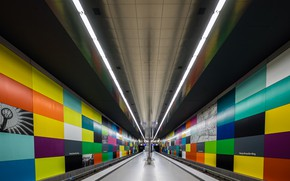Wallpaper Germany, station, Munich, metro, the platform