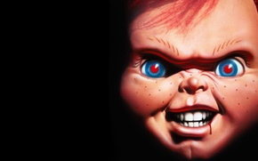 Picture eyes, look, teeth, doll, red, grin, killer, Chuckie, Chucky