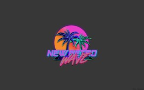 Picture Music, Neon, Palm trees, Background, Synthpop, Synth, Retrowave, Synthwave, Synth pop