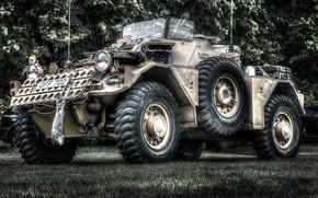 Picture machine, armor, military equipment, big wheels