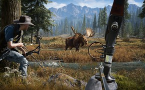 Picture HUNTING, BOW, far cry, FC 5, far cry 5, EDGE LIGHTS, EDGE LIGHTS 5