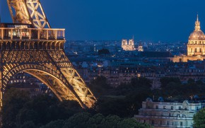 Picture France, Paris, home, panorama, Eiffel tower, Paris, night city, Notre Dame Cathedral, France, Eiffel Tower, …