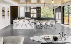 Picture Villa, interior, kitchen, dining room, Oakland Modern