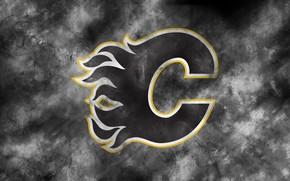 Picture emblem, NHL, NHL, Calgary, National Hockey League, hockey club, Calgary Flames, Calgary Flames