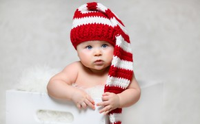 Picture look, hat, girl, baby, baby
