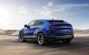 Picture Lamborghini, rear view, 2018, Urus, Off Road