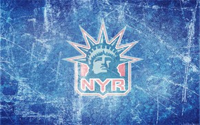 Picture ice, logo, emblem, the statue of liberty, NHL, NHL, National Hockey League, hockey club, New ...