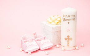 Picture gift, candles, Holiday, birth