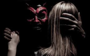 Wallpaper girl, dance, the devil
