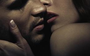Picture woman, kiss, men, lips