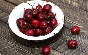 Picture background, plate, cherry