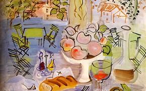 Picture Still life, Baltimore, 1928, Raoul Dufy, Aquarelle, Nature Morte, The Evergreen House Foundation