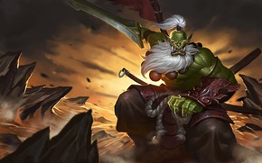 Picture weapons, sword, fantasy, art, Orc, Simple Wang WHB, JUGG