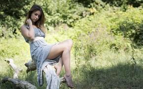 Picture summer, look, face, model, hair, dress, legs, Saula