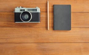 Picture The camera, Notepad, Handle