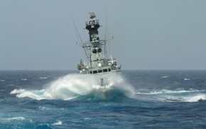 Picture sea, frigate, wave, hdms peter tordenskjold, squirt