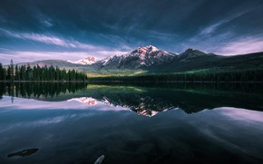 Picture Lake, Patricia, Serene, Pyrami, Lake Morning, Stillness