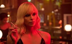 Wallpaper cinema, Charlize Theron, Atomic Blonde, blonde, woman, face, movie, film