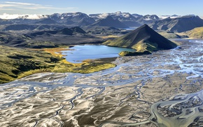 Picture autumn, plateau, Iceland, Iceland