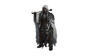 Picture sword, warrior, male