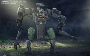 Picture machine, transport, robot, In environment, ONRYO. mech