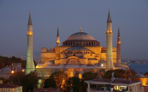 Picture The evening, Istanbul, Turkey, Mosque, Istanbul, Turkey, Evening, Mosque