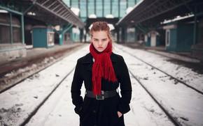 Picture scarf, sponge, coat, Michael ∞ Flight, Gulnara Alysheba
