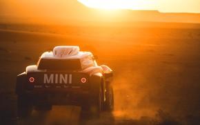 Picture Sunset, The sun, Sand, Mini, Desert, Rally, Dakar, Dakar, Rally, Dune, Buggy, Buggy, X-Raid Team, …