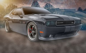 Wallpaper black, Dodge, Challenger SRT