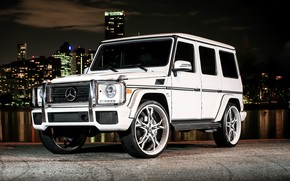 Picture City, Mercedes, AMG, Night, White, G63