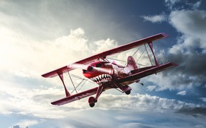 Wallpaper OH-XPF, flight, Pitts Special, the plane, the sky