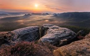 Picture The sun, Nature, Stones