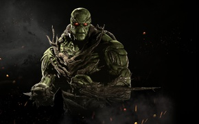 Picture green, game, NetherRealm Studios, Injustice 2, Swamp Thing