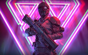 Picture weapons, background, soldiers