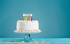 Picture holiday, candle, cake, cake, dessert, Background
