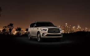 Wallpaper Los Angeles, 2018, Infiniti, QX80, Los Angeles