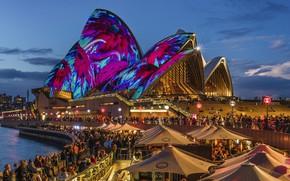 Picture night lights, Sydney, night city, Austria